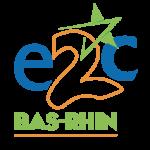 Logo de l'e2c67 bleu, orange et vert clair.